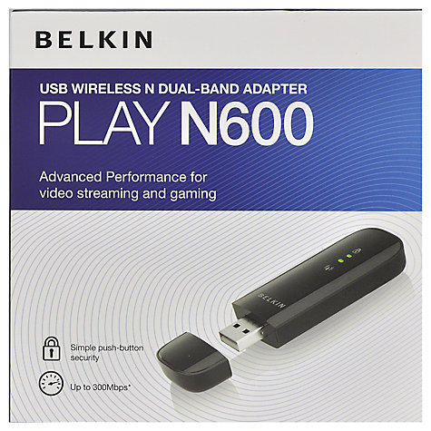 Buy Belkin Play N600 Wireless Dual-Band USB Adapter Online at johnlewis.com