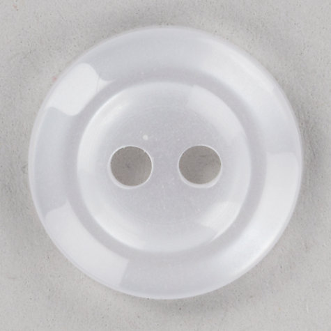 Buy John Lewis Button, 14mm, Pack of 5, White Online at johnlewis.com
