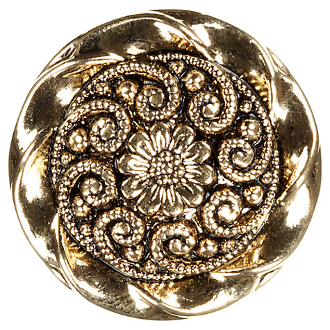 Buy John Lewis Paisley Shank Button, 25mm, Gold Online at johnlewis.com