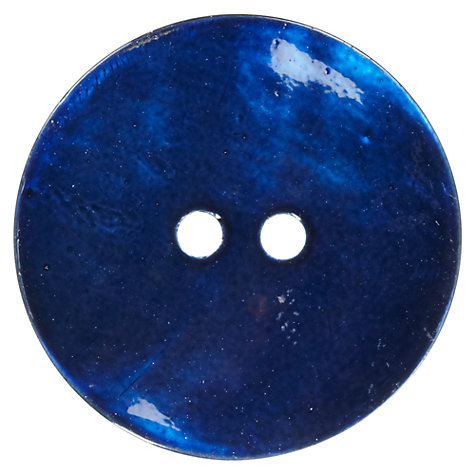 Buy John Lewis Shell Buttons, 23mm, Pack of 2, Royal Online at johnlewis.com