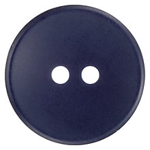 Buy John Lewis Matt Buttons, 20mm, Pack of 3, Navy Online at johnlewis.com
