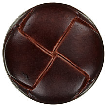 Buy John Lewis Imitation Leather Shank Button, 25mm, Tan Online at johnlewis.com