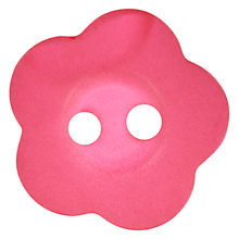 Buy John Lewis Jelly Flower Button, 15mm, Magenta Online at johnlewis.com