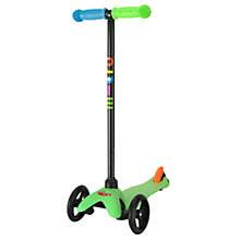 Buy Limited Edition Mini Micro T-Bar Scooter, Neon Green Online at johnlewis.com