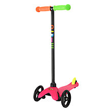 Buy Limited Edition Mini Micro T-Bar Scooter, Neon Pink Online at johnlewis.com