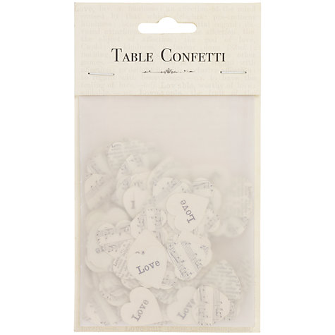Buy East of India Hearts Wedding Table Confetti Online at johnlewis.com