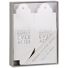 Buy East of India Happily Ever After Wedding Favour Boxes, Pack of 8 Online at johnlewis.com