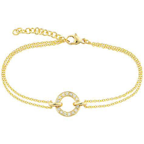Buy London Road Yellow Gold Meridian Circle Diamond Set Bracelet, Gold Online at johnlewis.com