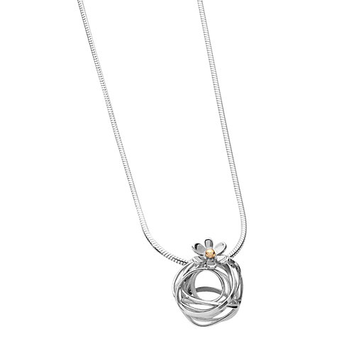 Buy Linda Macdonald Scribbles Gold Detail Necklace, Silver Online at johnlewis.com