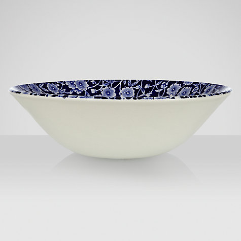 Buy Burleigh Blue Calico Cereal Bowl, Dia.16cm Online at johnlewis.com