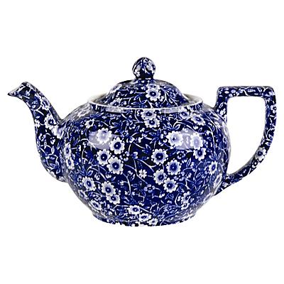 Burleigh Blue Calico Teapot, 1L