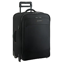 Buy Briggs & Riley Transcend Series 200 2-Wheel Expandable Medium Suitcase, Black Online at johnlewis.com
