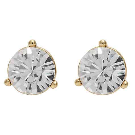 Buy Cachet London 3 Claw Setting Crystal Solitare Stud Earrings Online at johnlewis.com