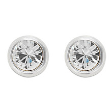 Buy Finesse Rhodium Plated Crystal Stud Earrings, Silver Online at johnlewis.com