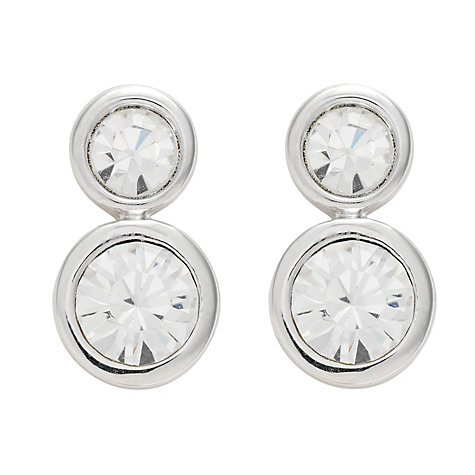 Buy Finesse Rhodium with Swarovski Crystal Stud Earrings Online at johnlewis.com