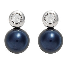 Buy Finesse Pearl and Swarovski Crystal Stud Earrings Online at johnlewis.com