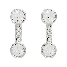 Buy Cachet London Rhlanai Rhodium Plated Crystal Stud Earrings Online at johnlewis.com