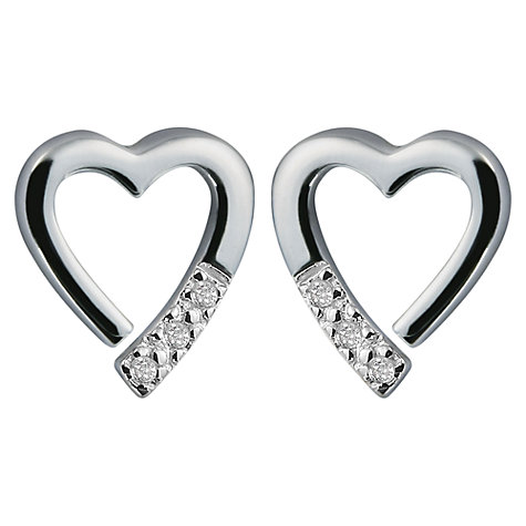 Buy Hot Diamonds Memories Silver Stud Earrings Online at johnlewis.com