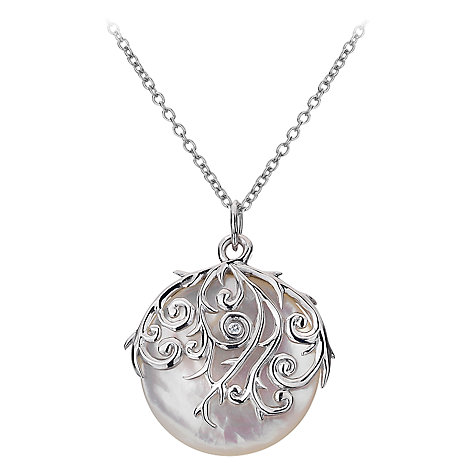 Buy Hot Diamonds Sterling Silver and Mother of Pearl Wild Roses Orb Pendant Online at johnlewis.com