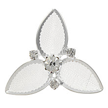 Buy John Lewis Bridal Flower Diamanté Hair Pins x 4, Silver Online at johnlewis.com