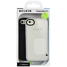 Buy Belkin iPhone 4 Case Twin Pack, Black and Clear Online at johnlewis.com