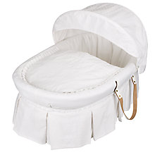 Buy Emile Et Rose Moses Basket, White Online at johnlewis.com