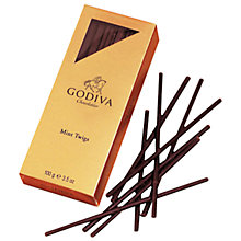 Buy Godiva Mint Twig Chocolates, 100g Online at johnlewis.com