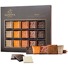 Buy Godiva Carres Chocolates, Box of 60, 310g Online at johnlewis.com