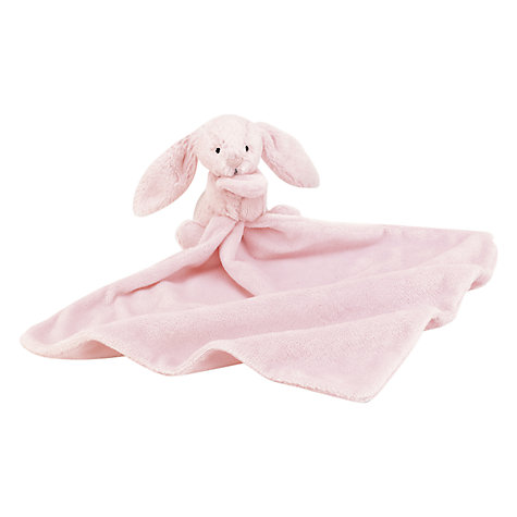 Buy Jellycat Bashful Bunny Blankie, Pink Online at johnlewis.com