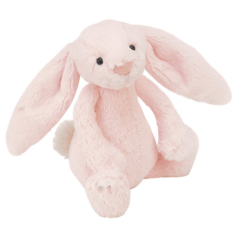 Buy Jellykitten Bashful Bunny Rattle, Pink Online at johnlewis.com