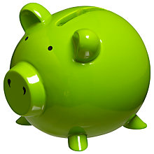 Buy John Lewis Piggy Bank, Green Online at johnlewis.com