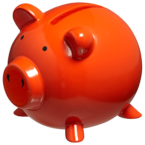 Buy John Lewis Piggy Bank, Orange Online at johnlewis.com