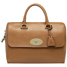 Buy Mulberry Classic Del Rey Top Handle Grab Handbag, Deer Brown Online at johnlewis.com