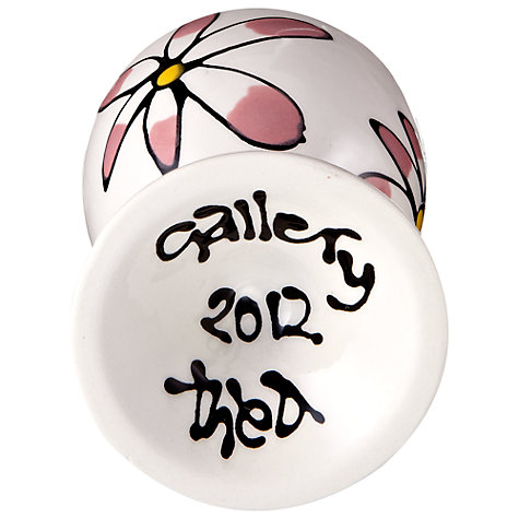 Buy Gallery Thea Personalised Egg Cup, Flower Online at johnlewis.com