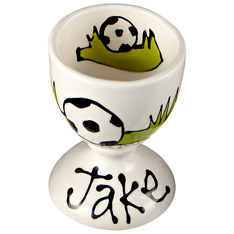 Buy Gallery Thea Personalised Egg Cup, Football Online at johnlewis.com