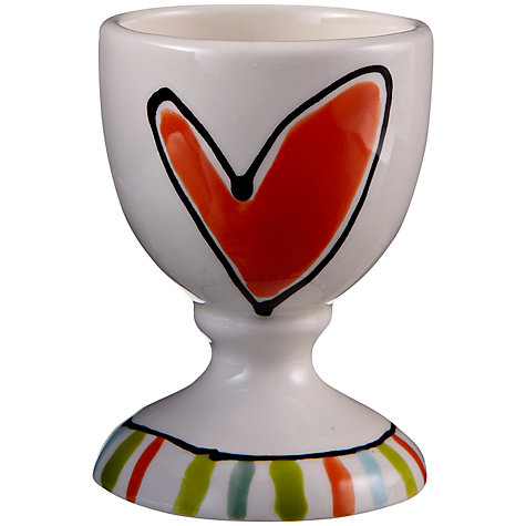 Buy Gallery Thea Personalised Egg Cup, Heart Online at johnlewis.com