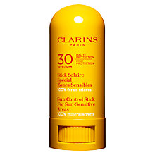 Buy Clarins Sun Control Stick for Sun-Sensitive Areas UVA/UVB 30, 8g Online at johnlewis.com