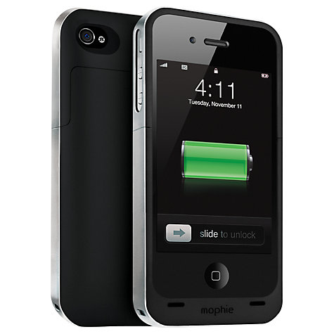 Buy Mophie Juice Pack Air, iPhone 4 & 4s Case with Rechargeable Battery, Black Online at johnlewis.com