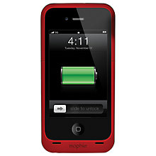 Buy Mophie Juice Pack Air, iPhone 4/s Case with Rechargeable Battery, Red Online at johnlewis.com
