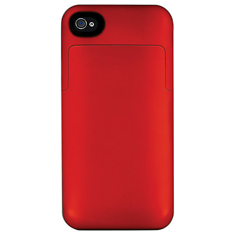 Buy Mophie Juice Pack Air, iPhone 4 & 4s Case with Rechargeable Battery, Red Online at johnlewis.com