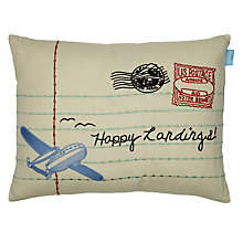Buy little home at John Lewis Happy Landings Jotter Cushion, Multi Online at johnlewis.com
