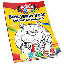 Buy Pukka Benjamin Bear Colouring By Numbers Book Online at johnlewis.com