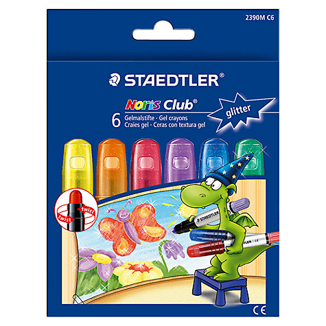Buy Staedtler Glitter Club Gel Crayons, Pack of 6 Online at johnlewis.com