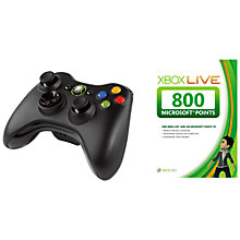 Buy Xbox 360 Wireless Controller with 800 Live Points Online at johnlewis.com