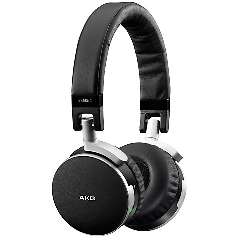 Buy AKG K495 Noise Cancelling On-Ear Headphones, Black Online at johnlewis.com