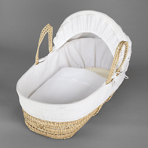 Buy John Lewis Waffle Moses Basket, White Online at johnlewis.com