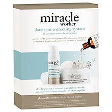 Buy Philosophy Miracle Worker Dark Spot Correcting System Online at johnlewis.com