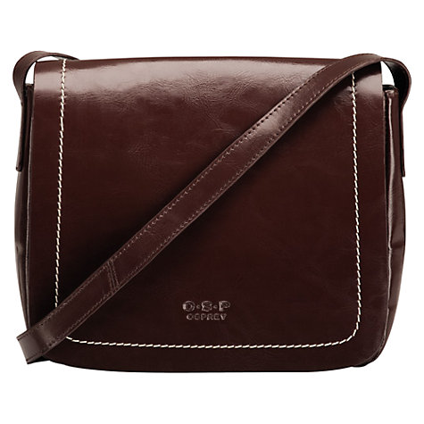 Buy O.S.P OSPREY Colmar Medium Across Body Handbag, Bitter Chocolate Online at johnlewis.com