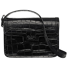 Buy O.S.P OSPREY The Frankfurt Mock Croc Leather Across Body Handbag, Black Online at johnlewis.com