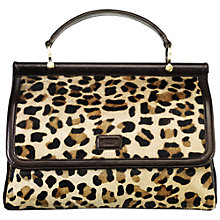 Buy OSPREY LONDON Kariba Cowhide Leather Grab Handbag, Brown Online at johnlewis.com